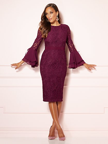 Eva Mendes Collection Seraphina Lace Sheath Dress New York Company