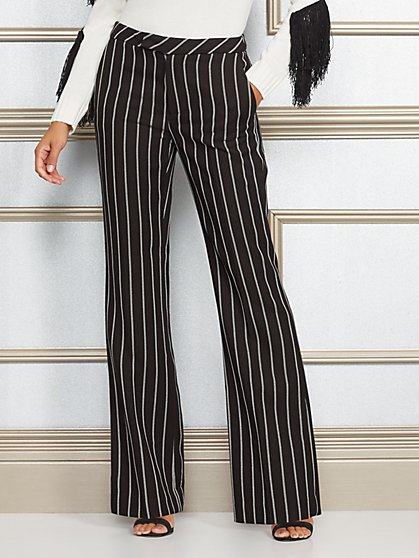 Eva Mendes Collection - Stripe Flare Pant - New York & Company
