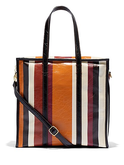 Eva Mendes Collection - Stripe Tote Bag - New York & Company