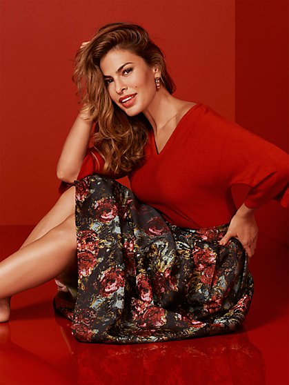 Eva Mendes Collection - Tall Maddie Floral Skirt - New York & Company