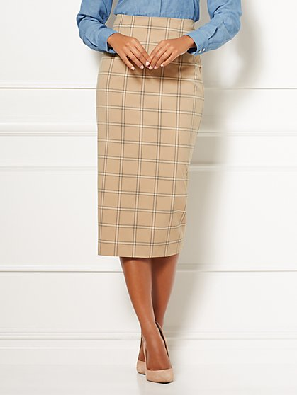 Eva Mendes Collection - Tall Plaid Kristy Skirt - New York & Company