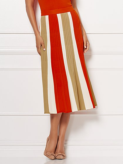 Eva Mendes Collection - Tall Tamia Pleated Sweater Skirt - New York & Company