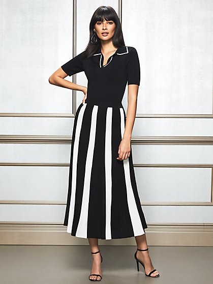 Eva Mendes Collection - Tamia Pleated Sweater Maxi Skirt - New York & Company