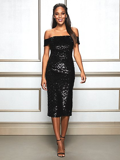 Eva Mendes Collection - Tia Sequin Sheath Dress - New York & Company