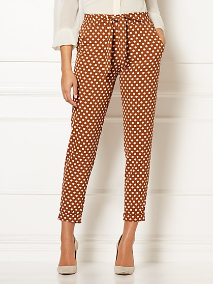 Eva Mendes Collection - Zoey Dot-Print Soft Pant - New York & Company