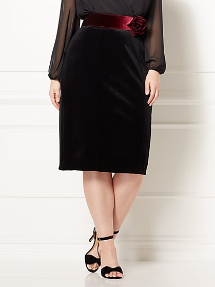 Eva Mendes Plus Collection - Emma Velvet Skirt - Eva Mendes Collection - New York & Company