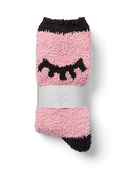 Eyelash Cozy Sock - New York & Company