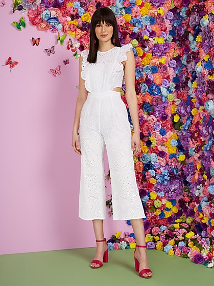 Eyelet Cutout Jumpsuit - New York & Company