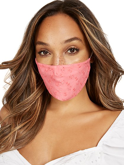 Eyelet Face Mask - New York & Company