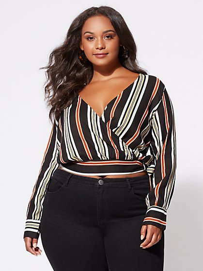 FTF Alexandra Wrap-Front Top - New York & Company