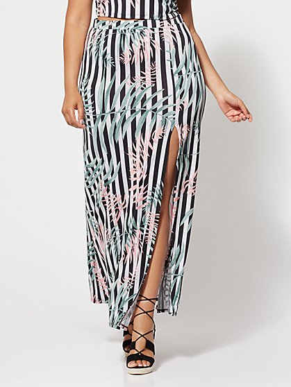 FTF Amalia Tropical Maxi Skirt - New York & Company