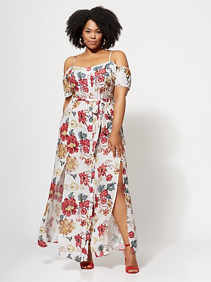FTF Amber Button-Down Maxi Dress - New York & Company