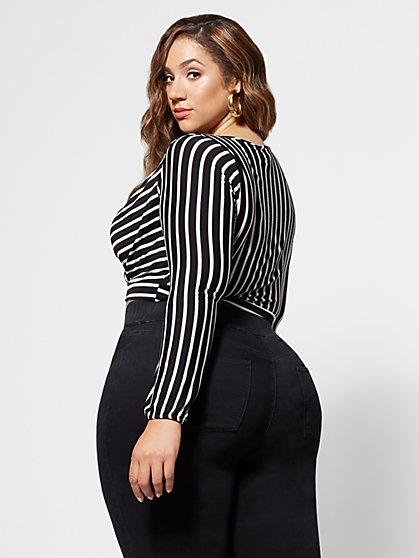 459a27517c ... FTF Angie Striped Crop Top - New York   Company ...