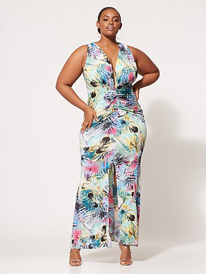 FTF Aria Ruched Maxi Dress - New York & Company