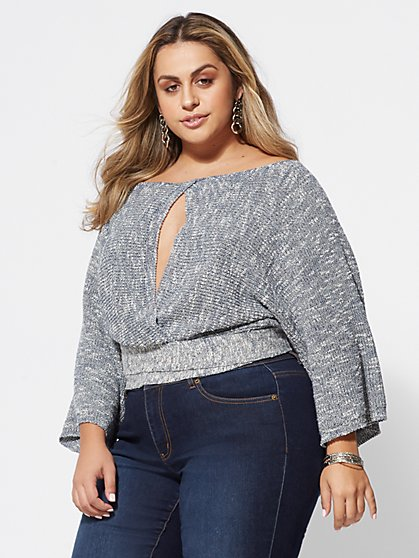 FTF Ashley Cutout-Accented Sweater - New York & Company