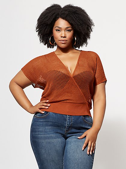 FTF Audrina Knit Crop Top - New York & Company