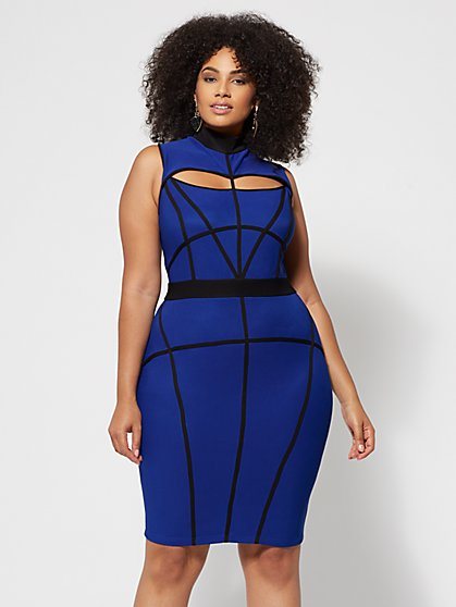 FTF Azura Cage Bodycon Dress - New York & Company