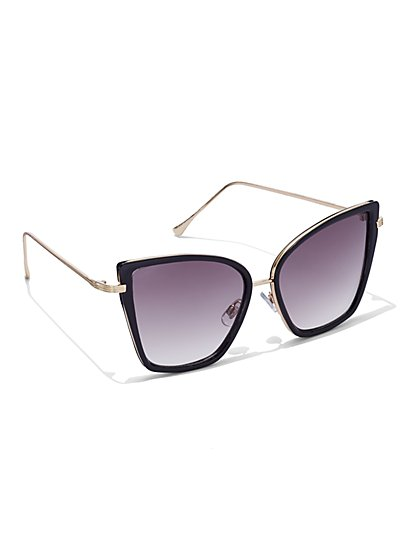FTF Bold Cat Eye Sunglasses - New York & Company