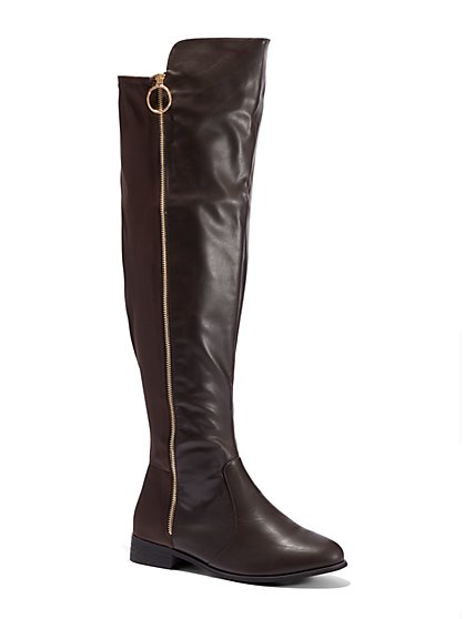 FTF Bristol Over-The-Knee Riding Boots - Wide Width - New York & Company