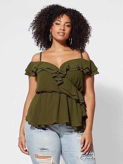 FTF Brynn Cold-Shoulder Top - New York & Company