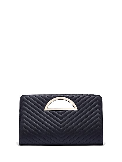 FTF Chevron Quilted Purse - New York & Company
