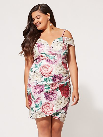 FTF Claudette Floral Bodycon Dress - New York & Company