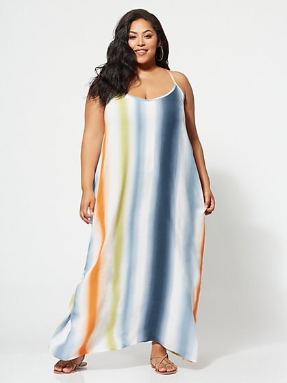 FTF Colette Stripe Maxi Dress - New York & Company