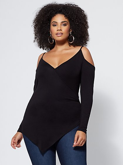 FTF Corrine Cold-Shoulder Top - New York & Company