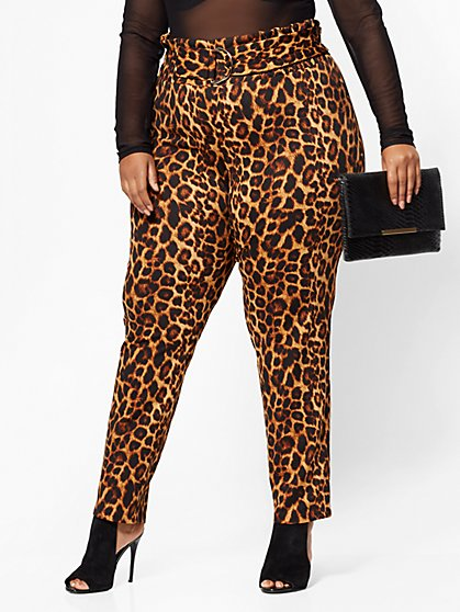 FTF Dani D-Ring Pants - Cheetah Print - New York & Company