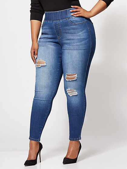 FTF Destructed Jeggings - New York & Company