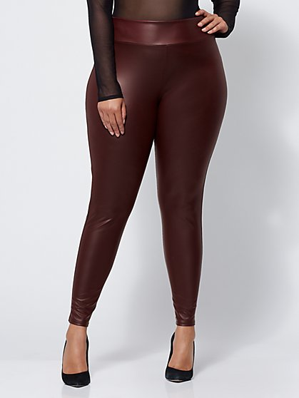 FTF Faux-Leather Leggings - New York & Company