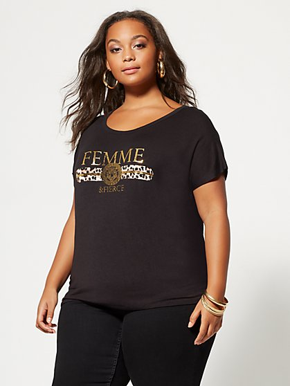 FTF Femme and Fierce Tee - New York & Company