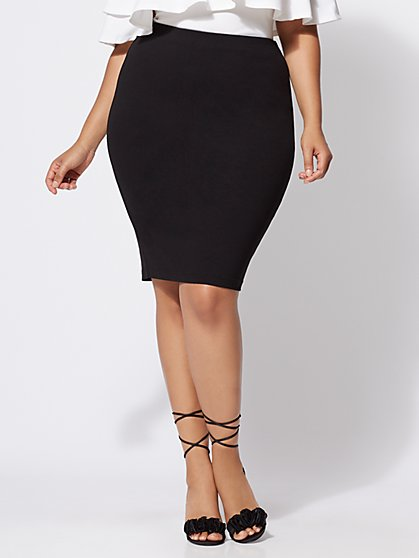 FTF Good Form Ponte Pencil Skirt - New York & Company