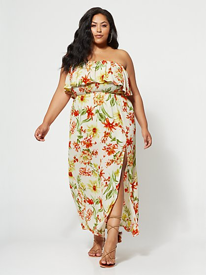 FTF Hilary Off-Shoulder Maxi Dress - New York & Company