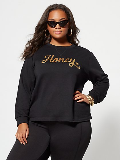 FTF Honey Gold Sweatshirt - New York & Company