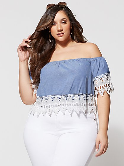 FTF Jordy Crochet Top - New York & Company