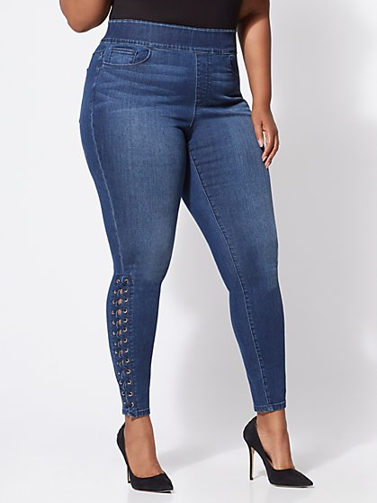 FTF Lace-Up Jeggings - New York & Company
