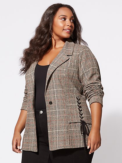FTF Lizzie Plaid Blazer - New York & Company