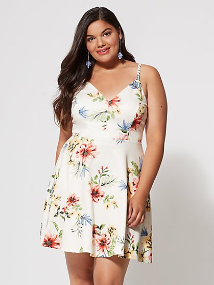 FTF Marie Floral Flare Dress - New York & Company
