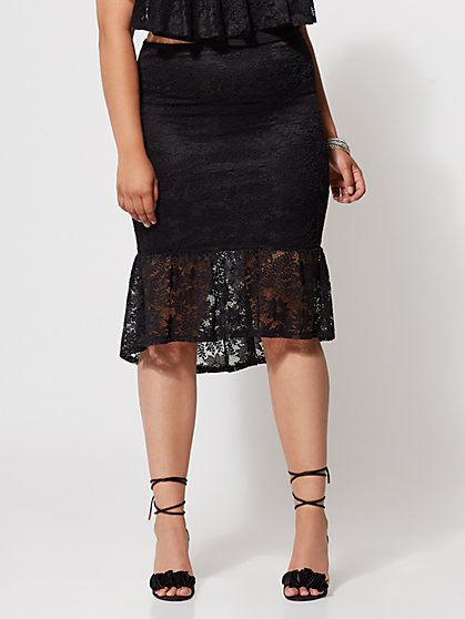 FTF Marie Lace Midi Skirt - New York & Company