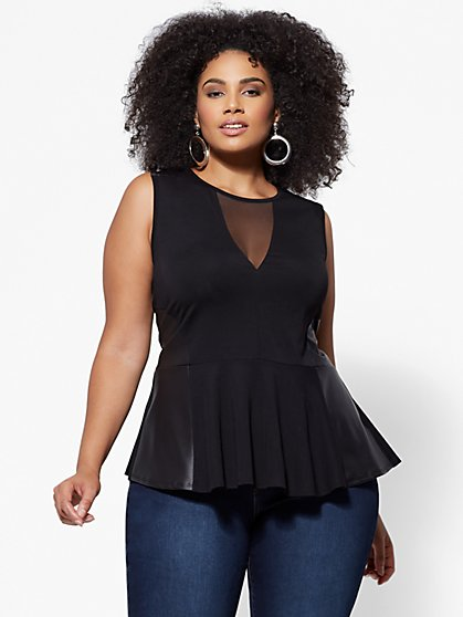 FTF Natasha Peplum Top - New York & Company