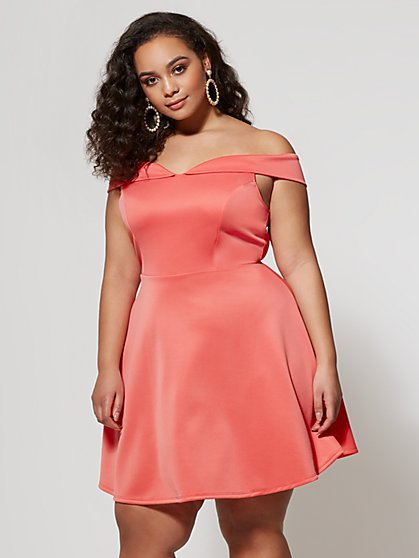 FTF Orchid Flare Dress - New York & Company