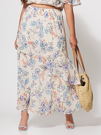 FTF Penelope Floral Maxi Skirt - New York & Company