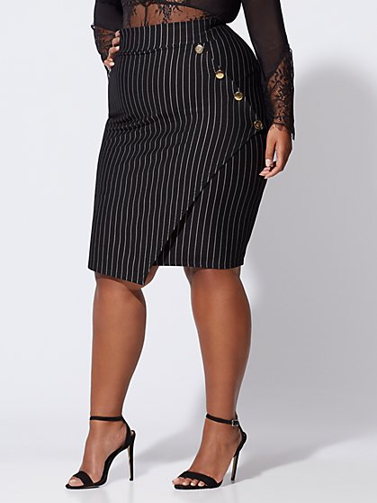 FTF Phoebe Pinstripe Pencil Skirt - New York & Company