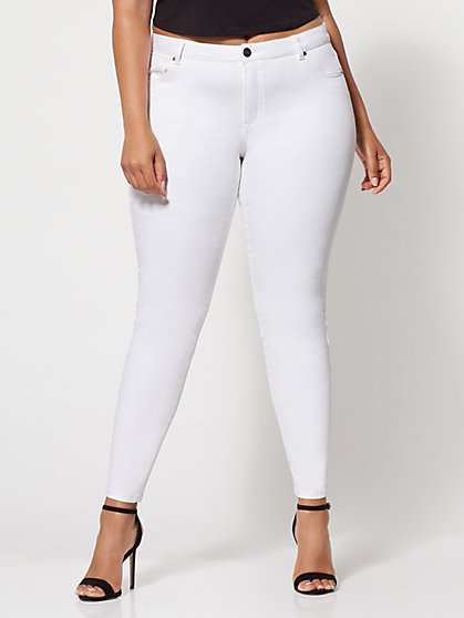 FTF Premium Lycra® Beauty White Skinny Jeans - New York & Company