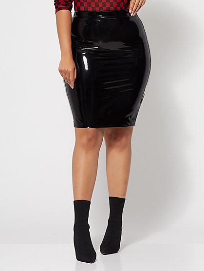 FTF Presley Vinyl Pencil Skirt - New York & Company