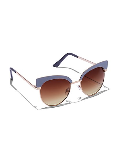 FTF Round Cat Eye Sunglasses - New York & Company