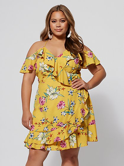 FTF Ryan Floral Ruffle Dress - New York & Company