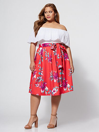 FTF Ryleigh Bow Skirt - New York & Company