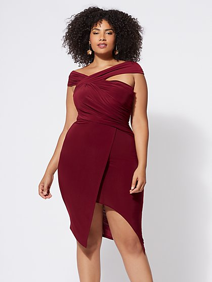 FTF Signature - Viera Ruched Bodycon Dress - New York & Company
